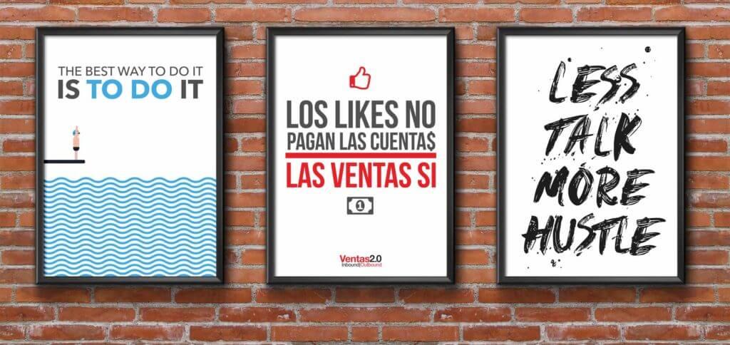 Posters con frases para ventas